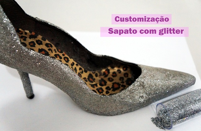 Como customizar sapatos com glitter
