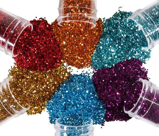 potinhos de glitter