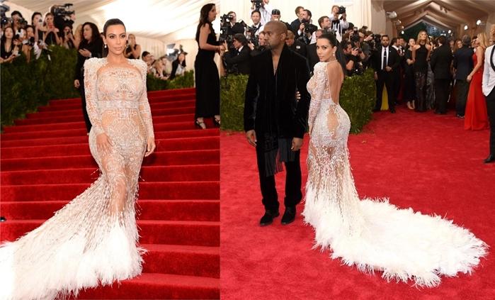 os looks das celebridades -kim kardashian- met ball 2015