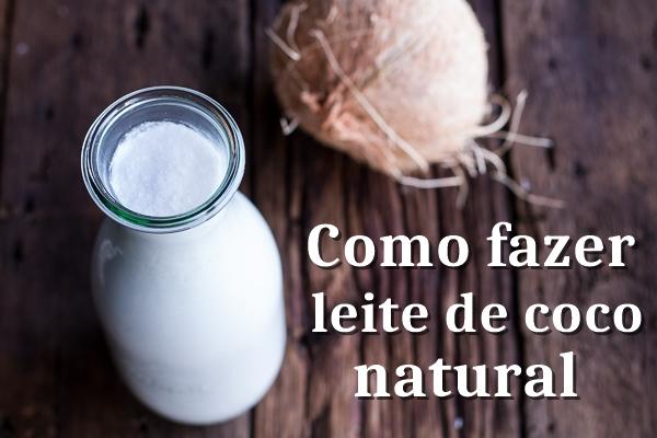 como fazer leite de coco natural