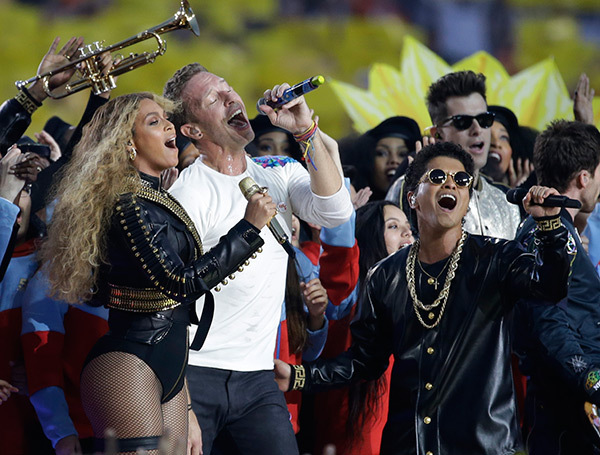 beyonce - coldplay- bruno- super bowl - halftime show 2016