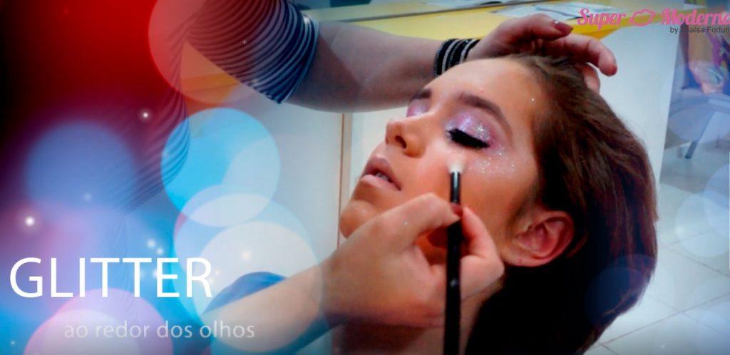 makeup glitter tutorial