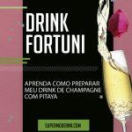 champagne com pitaya