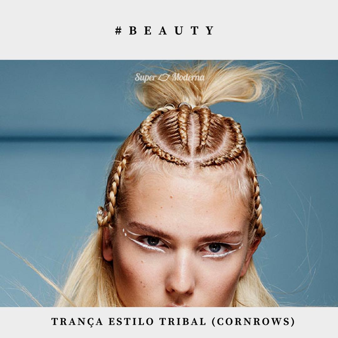 Tendência de beleza: trança tribal
